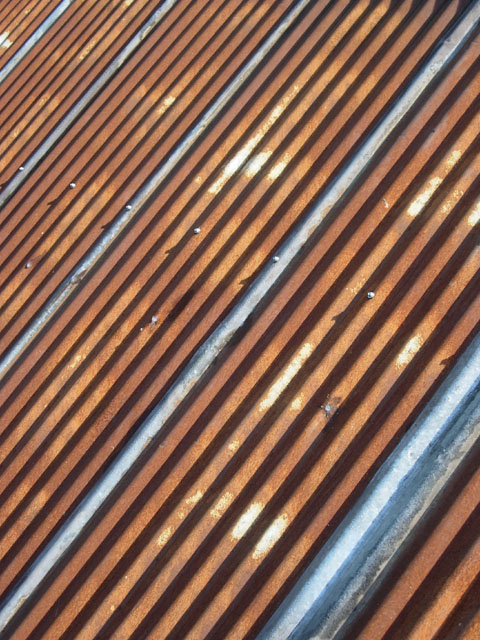 Great Natural Patina On Reclaimed Corregated Metal Roofing Panels